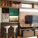 Cozinha & sala em conjunto.